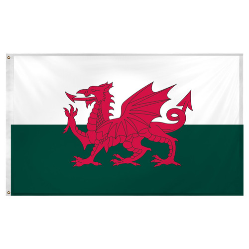 Wales Flag 3ft x 5ft Super Knit polyester