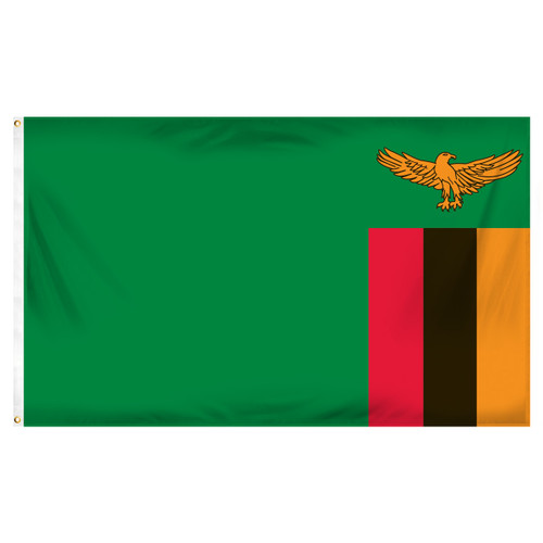 Zambia 3ft x 5ft Printed Polyester Flag