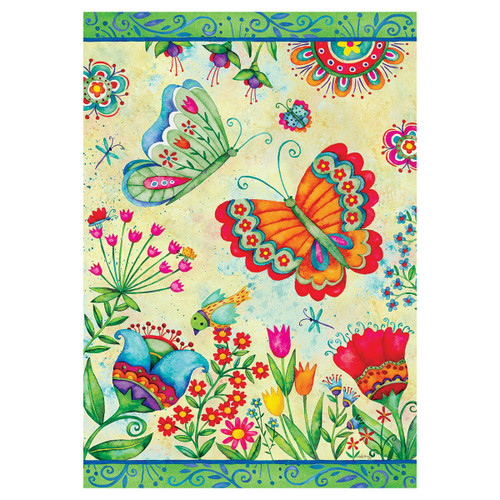 Spring Garden Flag - Butterfly Fun