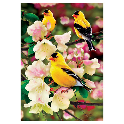 Spring Garden Flag - Goldfinch Gathering