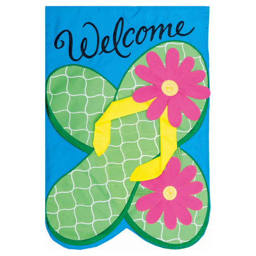 Summer Garden Flag - Flower Flops