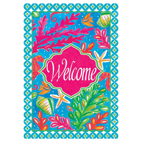 Summer Garden Flag - Tropical Welcome