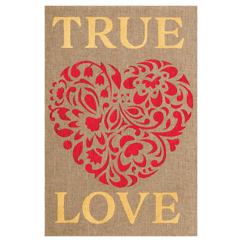 Valentine's Day Garden Flag - True Love