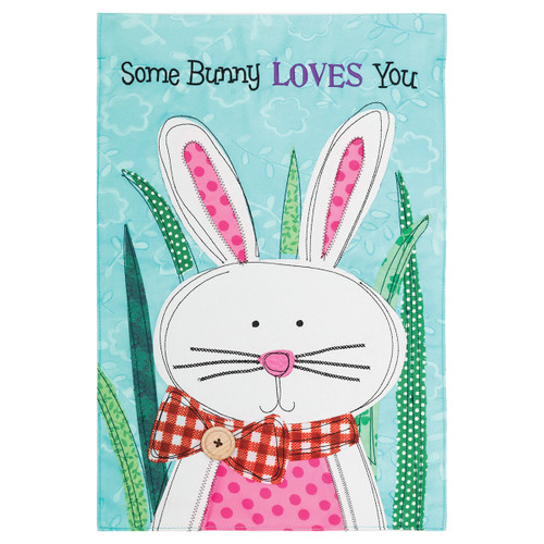 Easter Garden Flag - Some Bunny