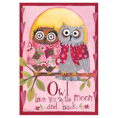 Valentine's Day Garden Flag - Owl Love You