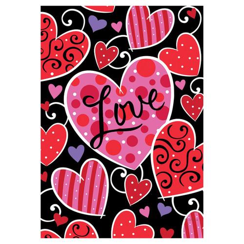 Valentine's Day Garden Flag - Valentine Love
