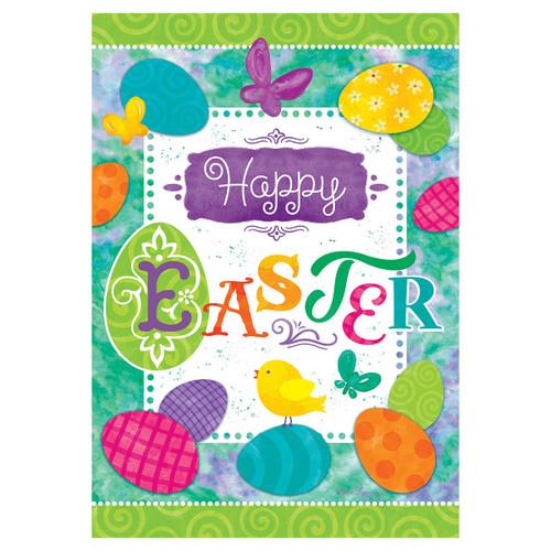 Easter Garden Flag - Easter Eggs