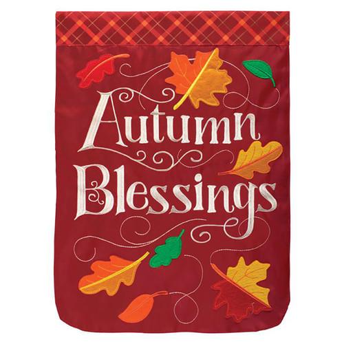 Fall Applique Garden Flag - Autumn Blessings