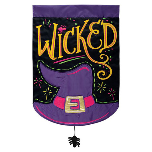 Halloween Applique Garden Flag - Wicked