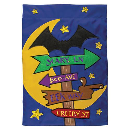Halloween Applique Garden Flag - Halloween Signs