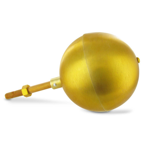 Gold Anodized Aluminum Ball Topper - 5in