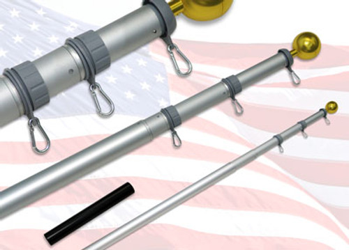 18ft Telescoping Flagpole - Online Stores, Inc. Brand