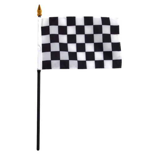4x6in Checkered Stick Flag