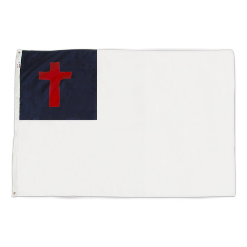 Christian flag 4ft x 6ft nylon