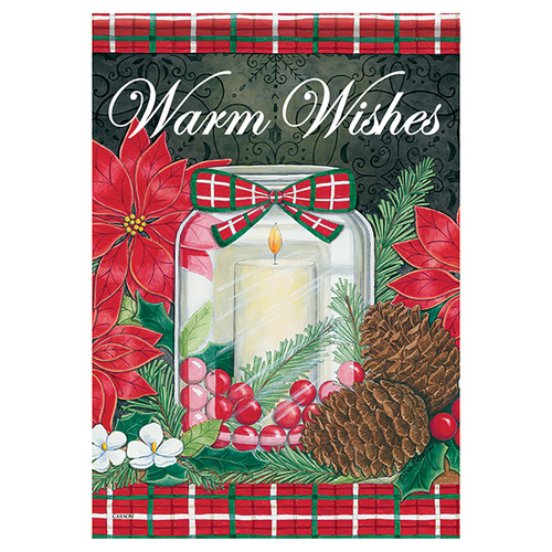 Christmas Garden Flag - Holiday Candle
