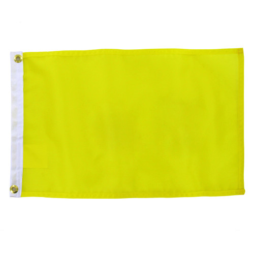 Solid Color FM Yellow Flag 12in x 18in Nylon Flag