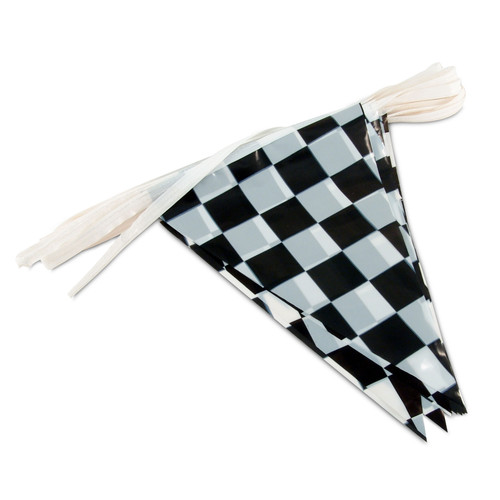 Checkered Poly String Pennant Flags
