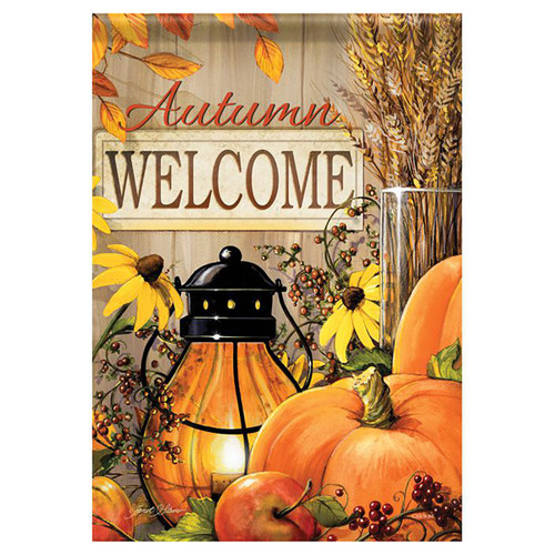 Fall Garden Flag - Fall Lantern Welcome