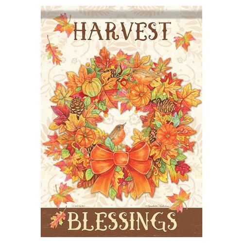Thanksgiving Garden Flag - Harvest Wreath