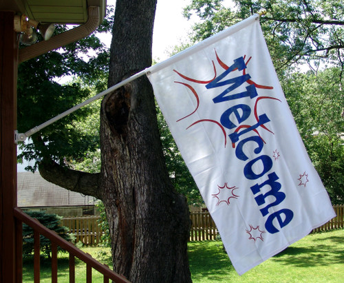 Welcome Flag Flash Design 1 - 3ft x 5ft Super Knit Polyester