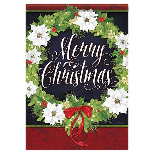 Christmas Garden Flag - White Christmas