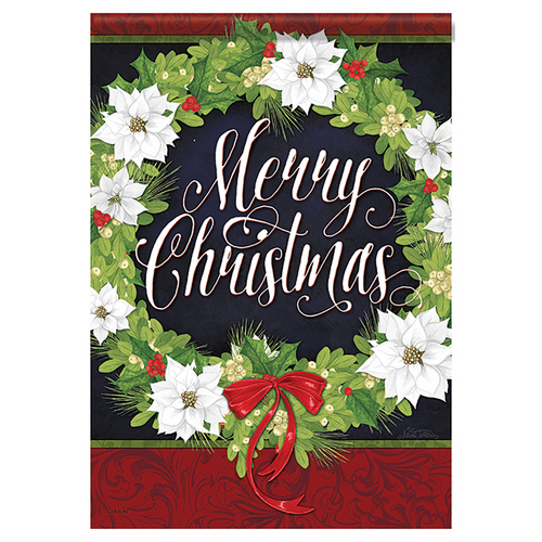 Christmas Garden Flag - White Christmas