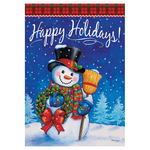 Christmas Garden Flag - Traditional Snowman