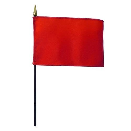 Solid Color 4in x 6in Hand Flag - Canada Red