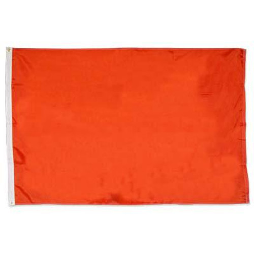 Solid Color Orange 3ft x5ft Nylon flag
