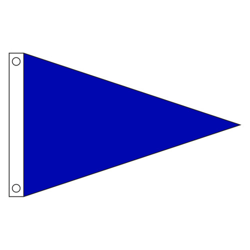 Solid Color 2ft x 3ft Nylon Pennant Flag - Royal Blue