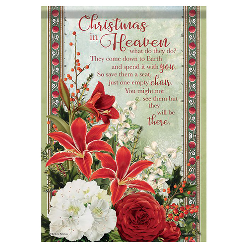 Christmas Memorial Garden Flag - Christmas in Heaven