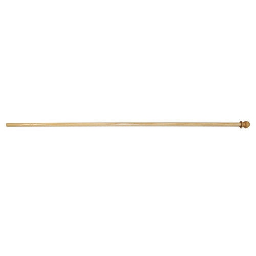 5 ft wood pole with finial