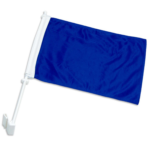 Solid Blue Car Flag
