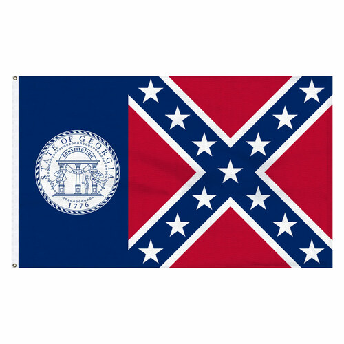 Georgia 1956-2001 3ft x 5ft Cotton Flag