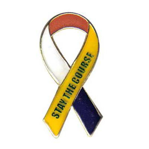 Support Our Troops-Stay The Course-Ribbon Pin