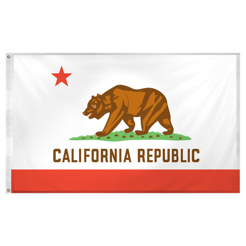 California flag 3 x 5 feet Super Knit Polyester