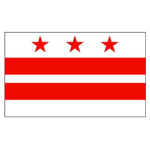 D.C. flag 3 x 5 feet Super Knit polyester