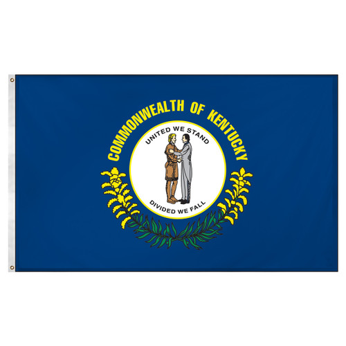 Kentucky Flag 3ft x 5ft Super Knit polyester