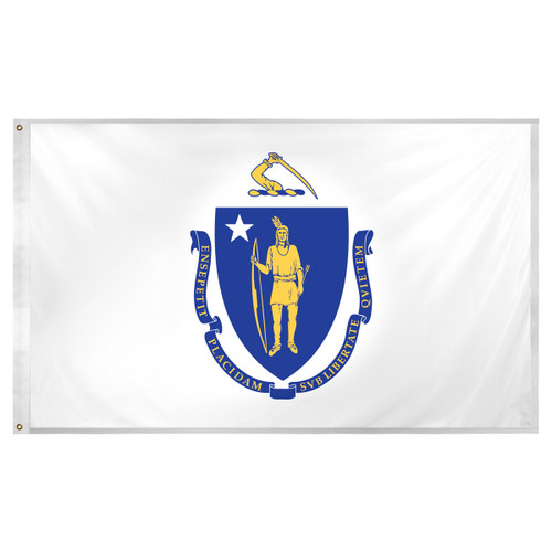 Massachusetts flag 3 x 5 feet Super Knit polyester
