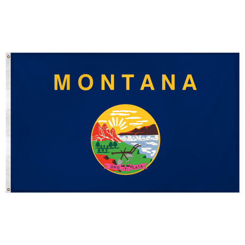 Montana flag 3 x 5 feet Super Knit polyester