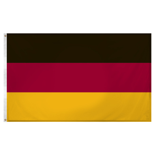 Germany  flag 3ft x 5ft Super Knit polyester