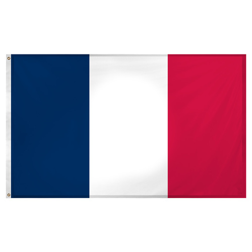 France flag 3ft x 5ft Super Knit polyester