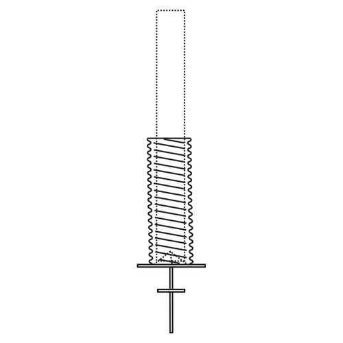 """Galvanized Steel Foundation Sleeve w/ Base Plate, Ground Spike, and Centering Pyramid 6"""" - For Poles Up to 35ft"""