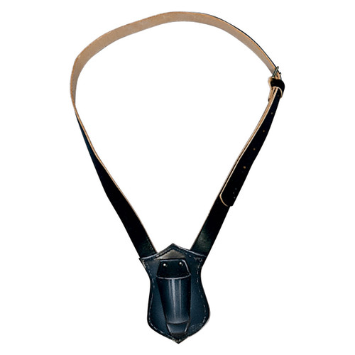 Single Strap Black Leather Carrying Belt
