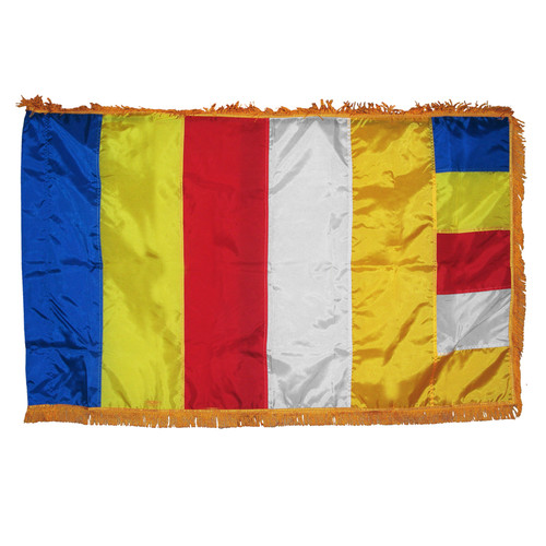 Buddhist Flag 3ft x 5ft indoor nylon