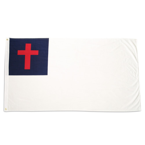Christian Flag 3ft x 5ft Super Knit polyester