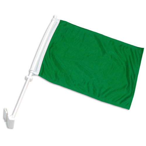 Solid Green Car Flag