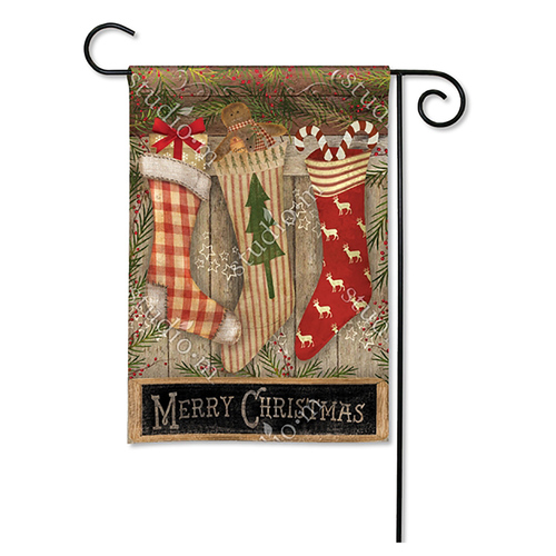 Christmas Garden Flag - Stockings