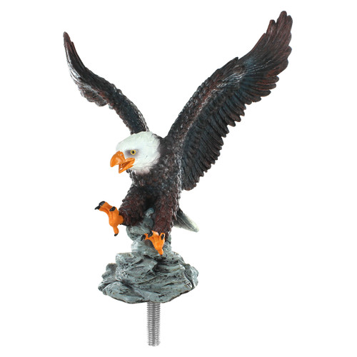 Eagle On Approach Flagpole Topper