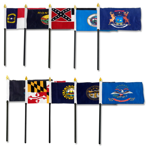 Set of 50 State Flags - 4x6 inch